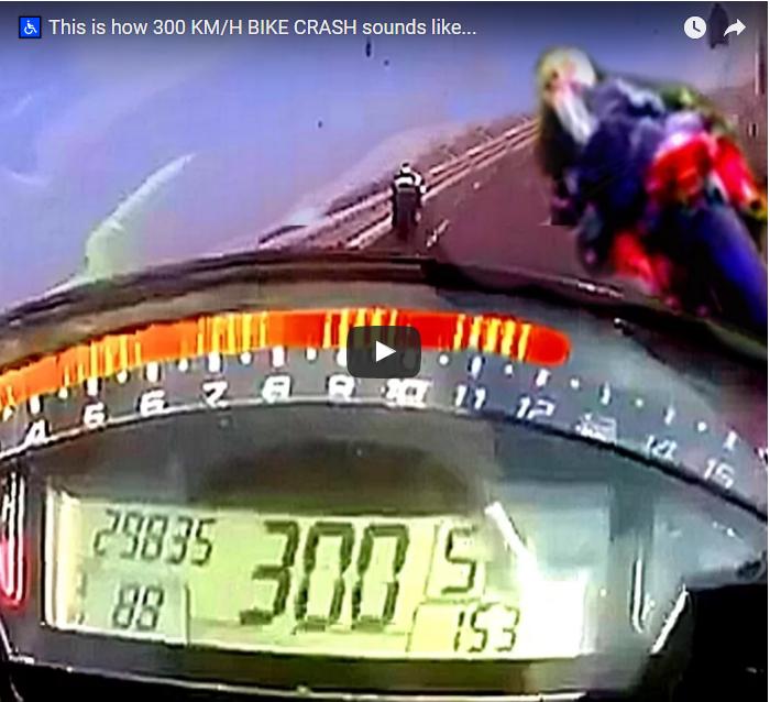 Acidente na auto estrada a 300 Km/h